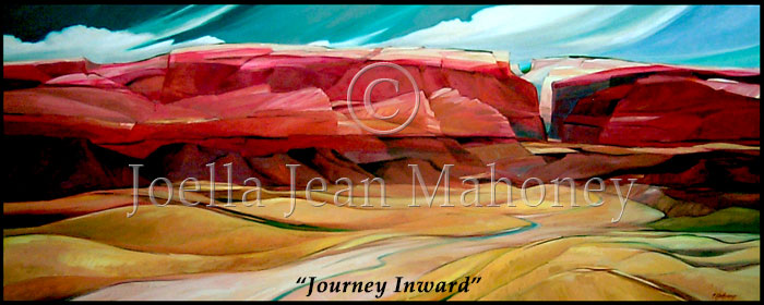 Journey Inward, from the Red Wall Series by Joella Jean Mahoney